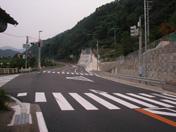 9号剣大橋交差点右折レーン設置工事