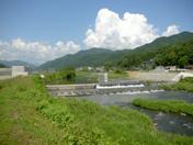 和田山八鹿道路八木川ランプ橋下部工事